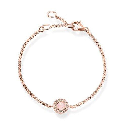 THOMAS SABO Damen Armband Light of Luna Rosa Armband 925er Sterlingsilber; 750er Roségold Vergoldung A1334-417-9