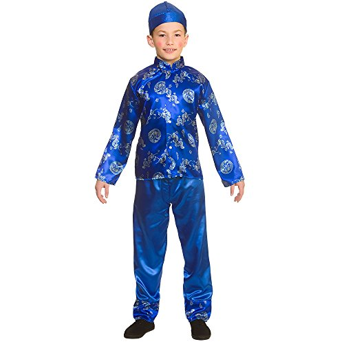 Kids Chinese Boy Fancy Dress Costume