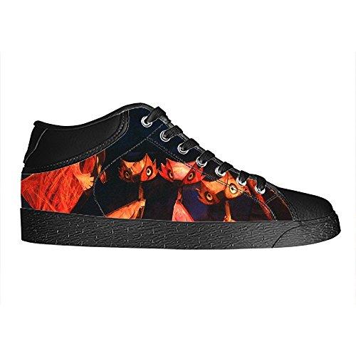 Dalliy Fox Men's Canvas shoes Schuhe Lace-up High-top Sneakers Segeltuchschuhe Leinwand-Schuh-Turnschuhe E