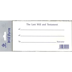 Last Will and Testament Forms - 2013 Update