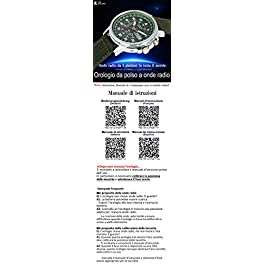 [Lad Weather] Radiocontrollato solare Microonde automatico impostazione tempo calendario perpetuo mondo tempo orologi Bracciale Orologi
