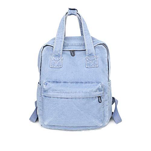 ucksack Frauen Einfarbig Backpack Mädchen Ultraleicht Grosse Kapazität Wasserdicht Damen Schulrucksack Groß Daypacks (Blau) ()