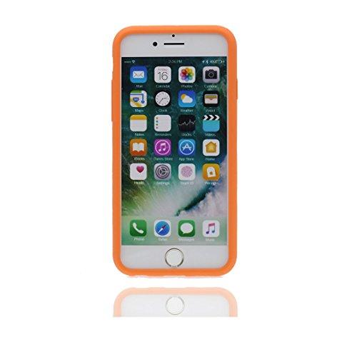 """Étui Apple iPhone 7 (4.7 """"), [Flexible, TPU] coque arrière avec peu de diamants Antipoussière, gratter, choc pour iPhone 7 (4.7 """") Housse, iPhone 7 Case Orange"""