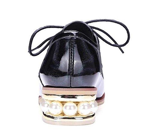 Beauqueen Pattini del signore femminili di modo casuale dell'ufficio casuale di estate di Round-Toe di Oxford del nuovo 2017 di modo Customized Europe Size 34-39 Black