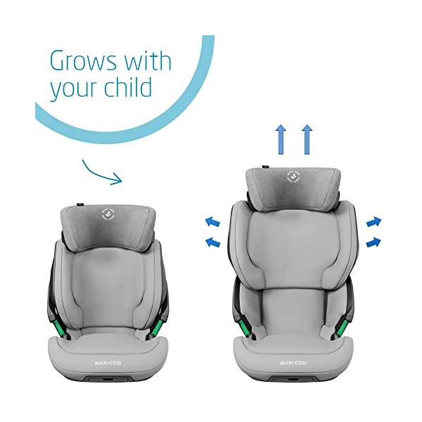 Maxi-Cosi Kore i-Size Child Car Seat, 3.5 - 12 years, 100 - 150 cm, Authentic Grey Maxi-Cosi Child car seat, suitable to use from 3.5 to 12 years (approx from 100 cm to 150 cm) ISOFIX installation is possible with this group 2/3 car seat for optimal stability Quick and easy to buckle up: This ISOFIX car seat is designed to enable children to get in and out and buckle up on their own in a few seconds 3