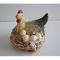 set 2 Galline con uova in miniatura -Novità Natale 2019 accessori presepe