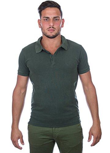 Emporio Armani Mens Green Polo-Shirt Small (T-shirt Armani Grünen)