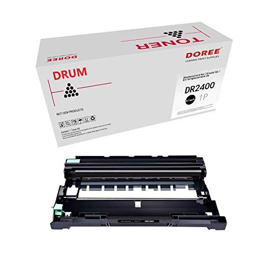 DOREE Cartuccia di Toner compatibile per Brother TN2420 / TN2410,TN-2420 / TN-2410 ,1 DR2400 nero, con chip