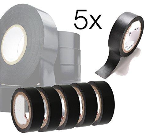 5x Isolierband Band Klebeband Reperaturband Dichtungsband Reperaturband schwarz wasserdicht Abdichtband 450 CM für Rohrabdichtung, Rohr abdichten wasserdicht