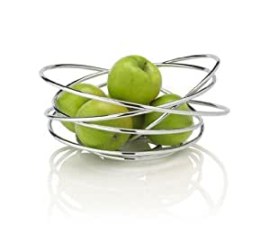 Black + Blum Fruit Loop Chrome Fruit Bowl