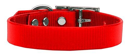 Mirage Pet Plain Tropical Jelly Hund Halsband, Medium, Rot