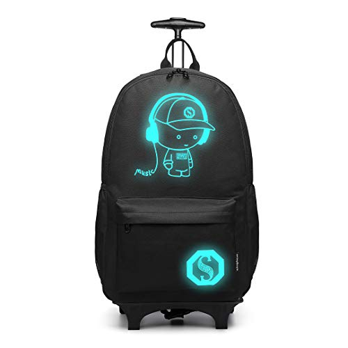Kono Anime Cartoon Luminous música Boy Backpack Escuela Estudiante...