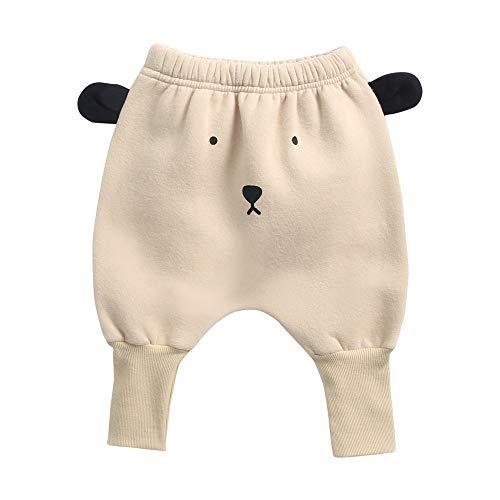 Sanlutoz Coton Bébé Harem Pantalons Animal Mignonne Bébé Hiver des Pantalons Chaleureuse Pantalons pour Filles (18-24 mois/90cm, BPW8163-BEAR)