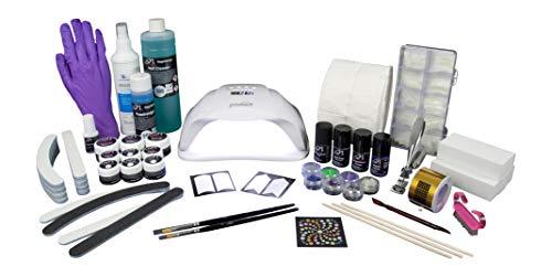 SN Nageldesign Gelnägel Set Starterset, Nagelstudio Set komplett mit UV LED Lampe, UV Gel Farbgel und viel Nagel Zubehör B2