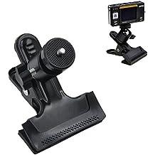 Racksoy–Trípode compacto con abrazadera de montaje de Pinza para Flash de Cámara, Soporte con cabezal de rosca de 1/4 pulgadas de bola, 360grados ajustable para GoPro Hero, cámara de fondo de estudio, dispositivos de flash Speedlite SLR DSLR etc.