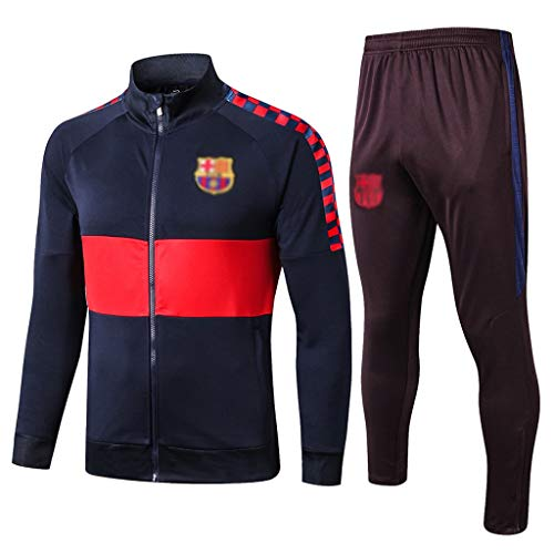 No-brand European Football Club Lange Collar Sportfußballtraining Uniform Royal Blue Jacket Sweatshirt (Verschiedene Größen) -CMKA0582 (Color : Royal Blue, Size : S)