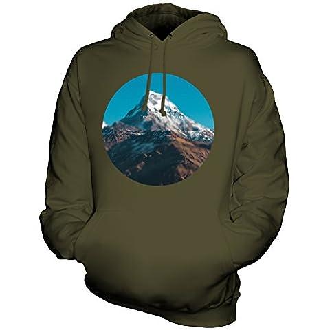 CandyMix Himalaya Montagna Unisex Uomo Donna Felpa con cappuccio - Blur Oliva