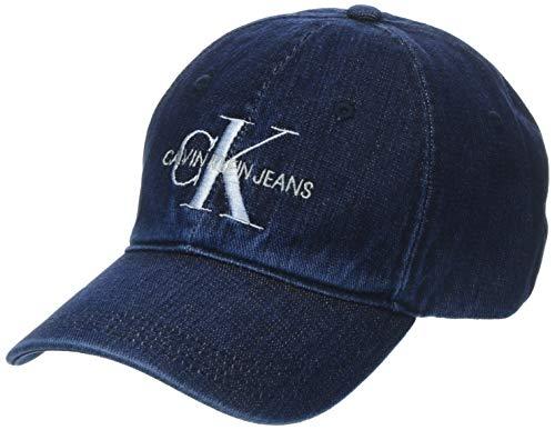 Calvin Klein Damen J Monogram W Baseball Cap, Blau (Denim 910), One Size (Herstellergröße:OS)