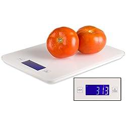 Báscula digital de cocina barata con Bluetooth para Smartphone, con aplicación para control de calorías y dietas, con info nutricional de alimentos. Con precisión de 1g. Garantía de 2 años.