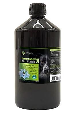 Schwarzkümmelöl für Hunde • 1000ml • ungefiltert • 100% naturrein • mühlenfrisch direkt vom Hersteller Kräuterland Natur-Ölmühle
