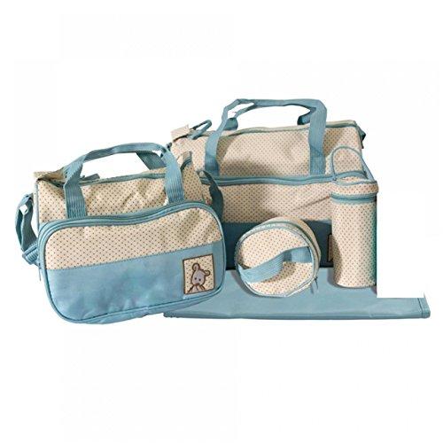 Set Babytasche 5 teilig und Sie haben all Ihre Babyutensilien dabei