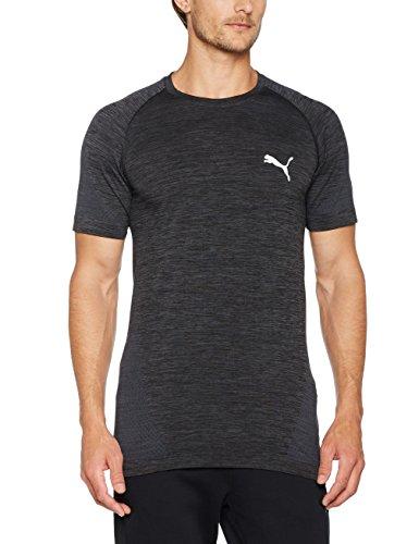 Puma Herren Evoknit Best Tee T-Shirt Puma Black-Asphalt