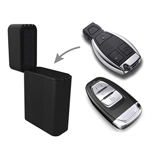 Practimondo Keyless Go Autoschlüssel Schutz Box - Car Key Entry Signal Blocker - Diebstahlschutz Autoschlüssel Schließsystem - NFC RFID Auto Schlüssel Schutzhülle - Car Enterprise