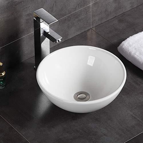 Modernes runder Aufsatzwaschbecken Keramik Waschbecken Waschbecken Waschbecken Waschbecken Waschbecken Waschtisch Badezimmer 320 x 320 x 130 mm