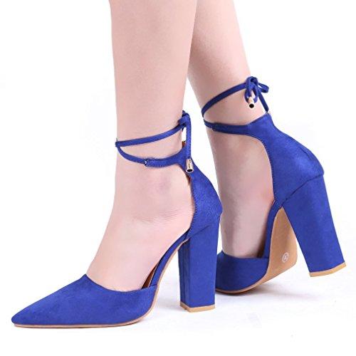 Sandali eleganti blu per donna Minetom 4GXnJVwU