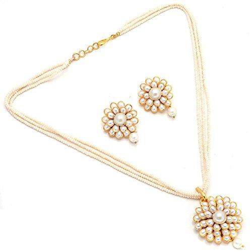 Jewar Mandi Pearl pacchi Pendant Set handmade ad kundan jadau meena temple cheapest Jewelry 15581