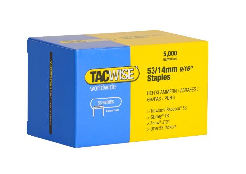 Tacwise Agrafes de Type 53 / 14 mm Galvanisées (Boîte de 5 000)
