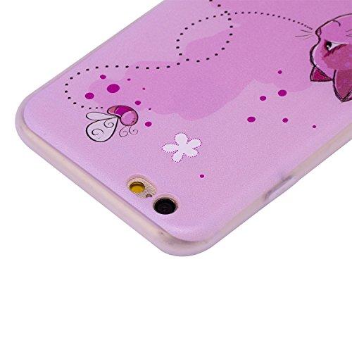 Coque iPhone 6 6S (4,7 Pouces) ,BONROY® Ultra-Mince Soft Silicone Etui de Protection pour Modèle de peinture Souple Gel TPU Bumper Anti-Scratch Housse Case Cover Pour iPhone 6 6S (4,7 Pouces) Chats et abeilles