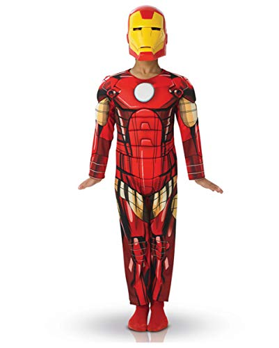 Horror-Shop Iron Man Kinderkostüm Deluxe M (5-6) (Kunststoff Iron Man Kostüm)