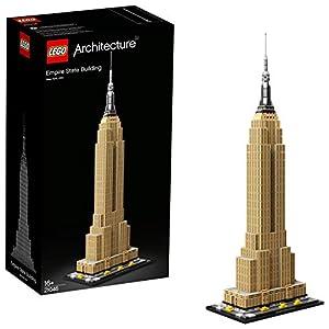 LEGO Architecture EmpireStateBuilding, Grattacielo Storico di New York, Set da Costruzione e Modello di Monumento da Collezione, 21046 5702016368338 LEGO