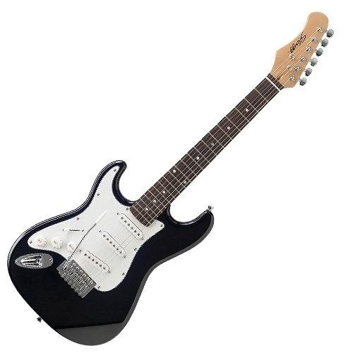 Stagg S300 3/4 LH BK - Guitarra eléctrica (para zurdos), color negro