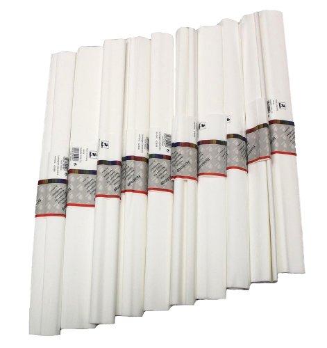 Krepp Papier 50 x 250 cm, verschiedene Farben(weiß), 1 Stueck(10 Rolle)