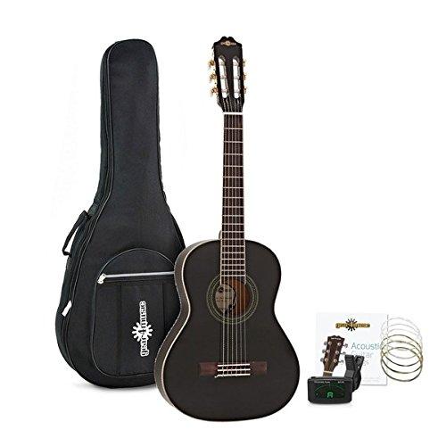 Guitarra Española 3/4 Deluxe + Accesorios de Gear4music - Negro