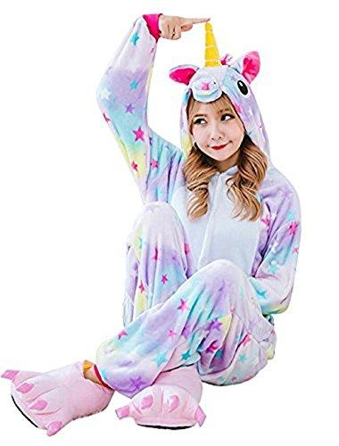 Animale pigiama unicorno kigurumi adulto anime cosplay costume di carnevale halloween party onesie interotuta animali unisex regalo di compleanno natale - landove