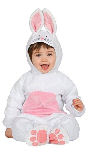 Guirca-85981 costume coniglietto per neonati 6/12 mesi unisex, bianco e rosa, talla 6-12 meses, 85981.0
