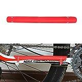 Demiawaking Paracatena Bicicletta Protezione Catena Bici in Plastica Protezione Telaio Bicicletta MTB Bici da Strada (Rosso)