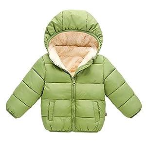 VECDY Niños Niñas Chaquetas Abrigos, Bloque de Color Puro Piel sintética Dentro Abrigos de Invierno Niños pequeños Dibujos Animados Outwears Regalos de cumpleaños 3
