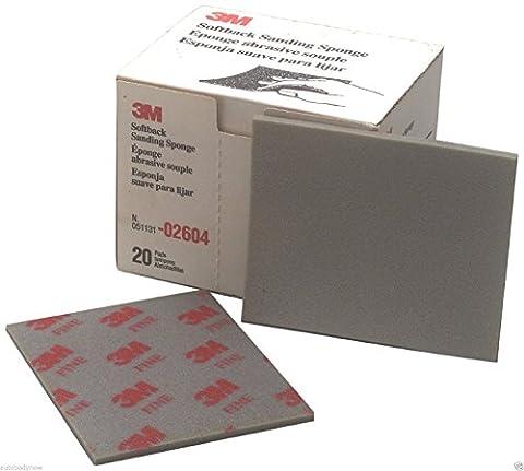 3M MMM2604 -ponge Sheets poche de 4 - 0,5 pouces X5-.5 pouces Beaux 20-Bx
