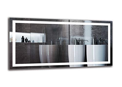 Espejo LED Premium - Dimensiones del Espejo 120x60 cm - Espejo de baño con iluminación LED - Espejo...