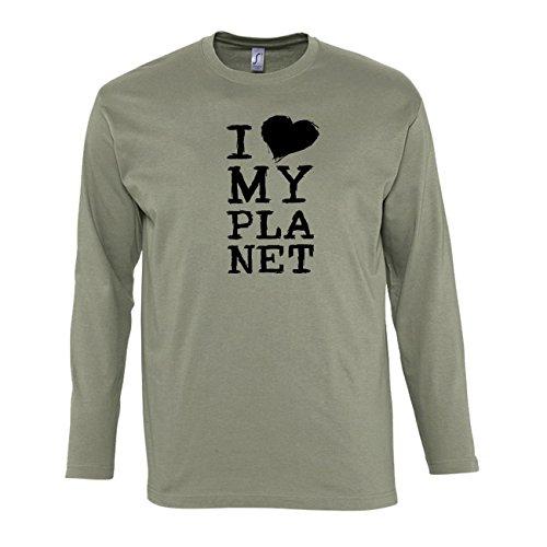 hommes-t-shirts-manches-longues-avec-i-love-my-planet-slogan-illustration-imprim-col-ras-du-cou-medi