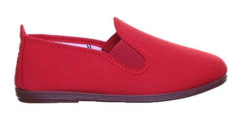 Flossy Navarre Jun Junior Toile Formateurs Red MC12