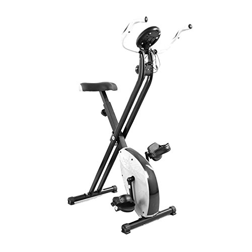 We R Sports Folding Magnetic Exercise Bike X-Bike Fitness Cardio Workout Weight Loss Machine - White