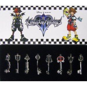 Kingdom Hearts II Schlüsselbund 8 Stück in einem Set