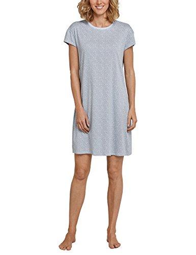 Schiesser Damen Negligee Sleepshirt 1/4 Arm, 90cm, Blau (Hellblau 805), 42 (Herstellergröße 042) (Modal-jersey-kurz)