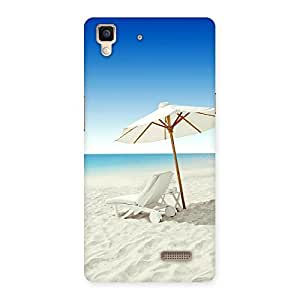 Delighted Vaccation Multicolor Back Case Cover for Oppo R7
