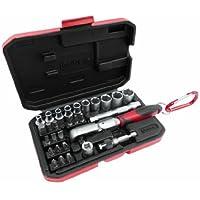 CON:P COXB973929 - Set inserti e chiavi a tubo, con dente di arresto, 29 pezzi